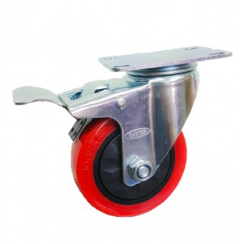 Roda PU Medium Duty CASTER TAIWAN Rem.